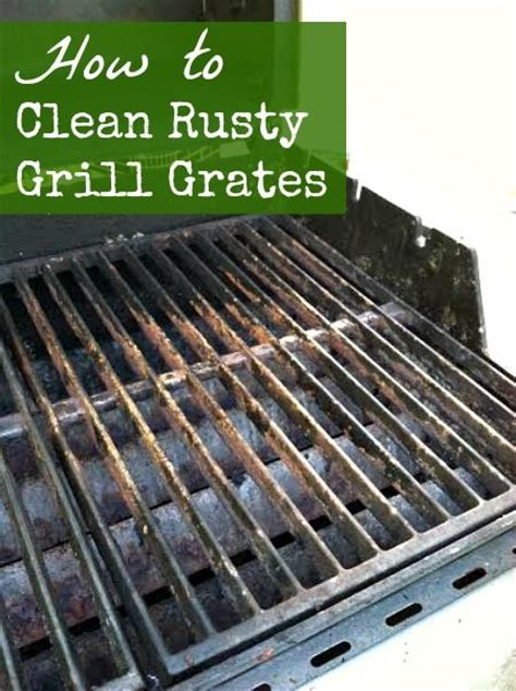 easy way to clean rusty cast iron grill grates diy home thrifty wise ideas pinterest