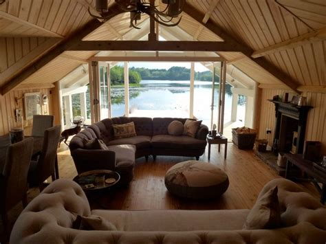 boat house lake country boat house lake view rustic living room london by clifford atkins