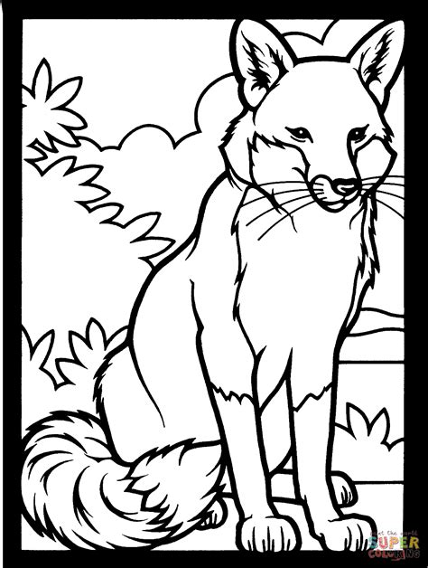 click the red fox coloring pages to view printable version