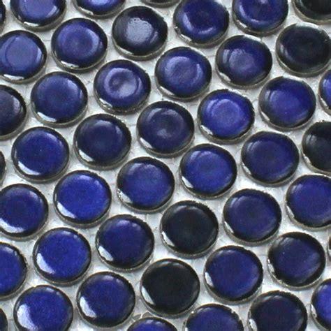 mosaikfliesen rund keramik mosaik drop rund blau uni tm33105m