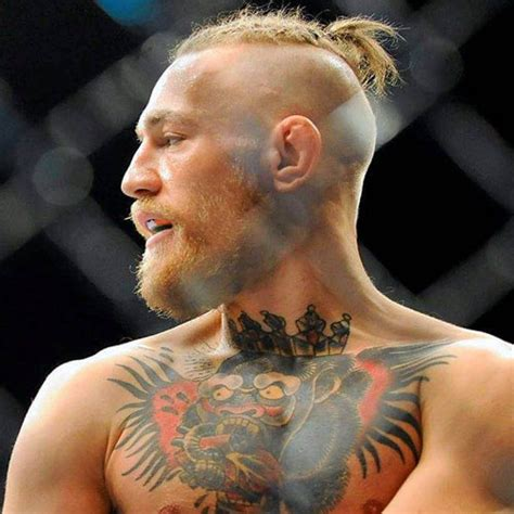 top slicked back shaved sides the conor mcgregor haircut