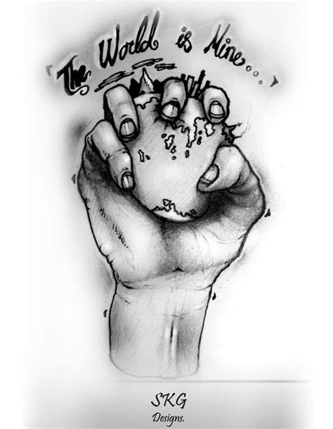 the world is mine tattoo the world is mine by s k g91