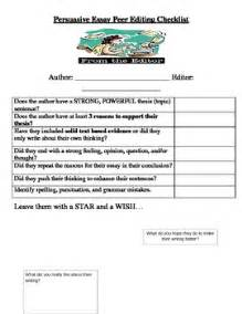 Peer Editing Checklist College Essay by Persuasive Essay Peer Editing Checklist By Adrienne Demarco Tpt