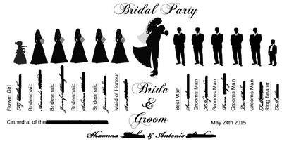 Wedding Party Silhouette Ideas Book Or Fan Weddings Do It Yourself Wedding Forums Wedding Silhouette Template