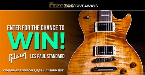 Gibson Giveaway - gibson les paul standard giveaway giveaway monkey