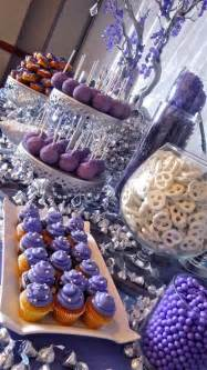 purple and blue buffet themes buffet in purple quinceanera ideas