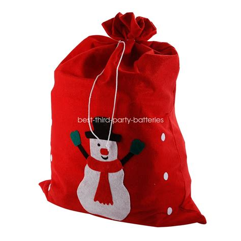 large santa sack father christmas gift present bag red