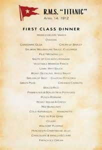 titanic third class menu share