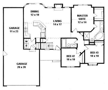 Ranch Floor Plans With 3 Car Garage by New 3 Car Garage House Plans Ranch House New Home Plans
