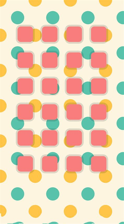 Rak Warna Warni rak polka dot warna warni kuning hijau wallpaper sc