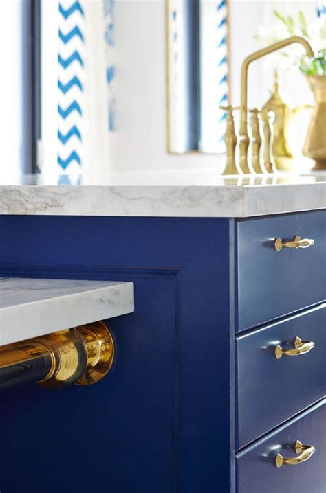 navy blue and gold kitchen sarah richardson s royal blue gold and white kitchen