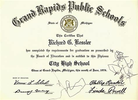 hnd certificate template high school diploma in michigan