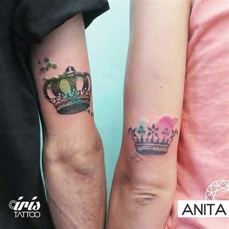 crown couple tattoo meaning tatouage king queen couple