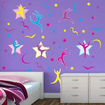 gymnastics themed bedrooms girls bedroom stickers gymnastics wall decor
