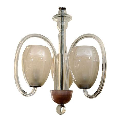 Murano Pendant Lights Murano Style Three Light Glass Pendant At 1stdibs