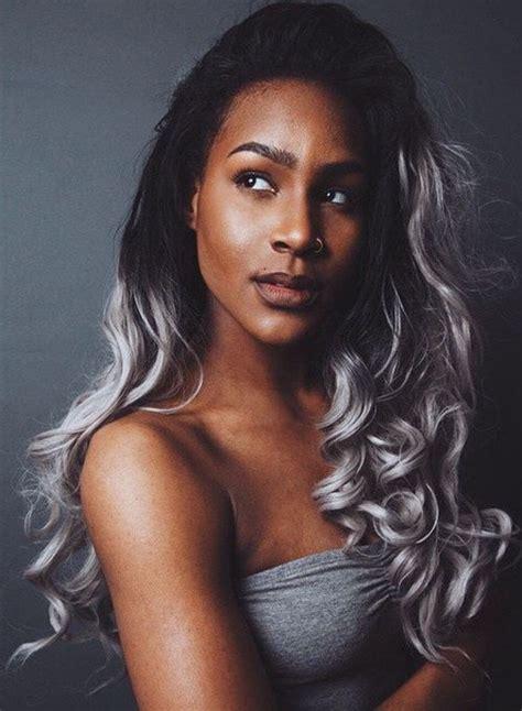 black hair with grey streaks on black women diferentes estilos de rubio ceniza y platinado para el pelo