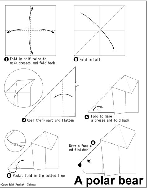 How To Make A Polar Out Of Paper - polar origami