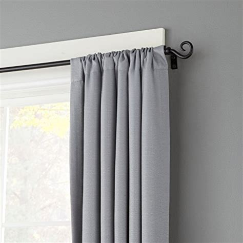 medium length curtains kenney window curtain rod medium 28 to 48 inch black