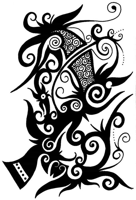 tattoo tribal iban iban tattoo bunga terung tattoos pinterest