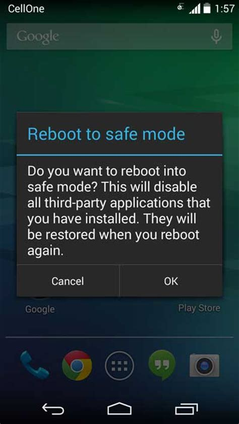 android phone safe mode boot into safe mode and diagnose issue with third