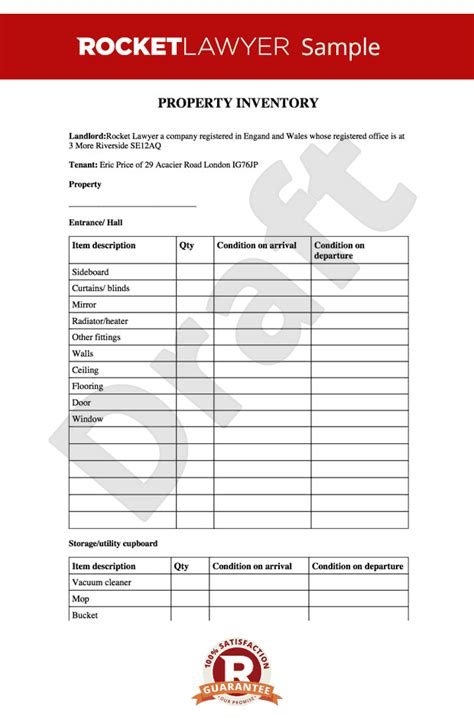 inventory template for rental property inventory property inventory inventory template