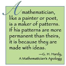 Math Pattern Quotes | what is math what do mathematicians do sara vanderwerf