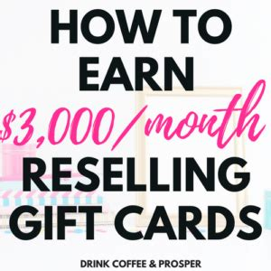 Reselling Gift Cards - how to make 4 000 month with sponsored blogging drink coffee and prosper