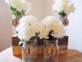 rustic jar centerpieces for weddings jar centerpiece table decoration wedding numbers