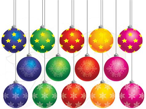 items similar to christmas baubles ornament clipart xmas