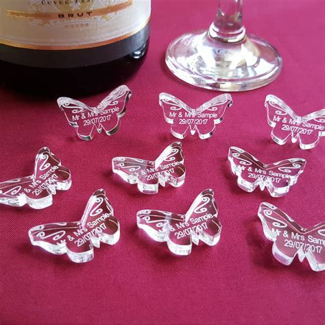 Personalised Butterfly Wedding Table Decorations, Mr Mrs