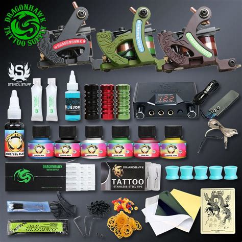 dragonhawk tattoo kit dragonhawk professional kit with 3 coil machines