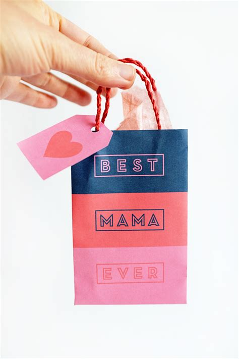 s day gift bags printable mother s day gift bags