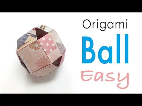 How To Make Origami Balls - easy origami paper toys for kids origami