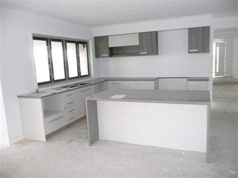 Grey And White L Kitchen Magnificent L Shape White Kitchen Decoration