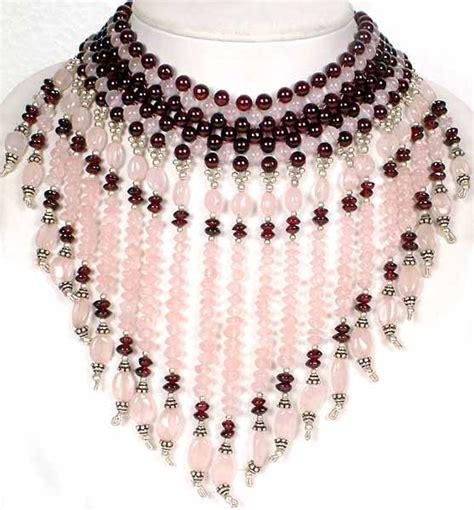 chandelier necklace quartz and garnet chandelier necklace
