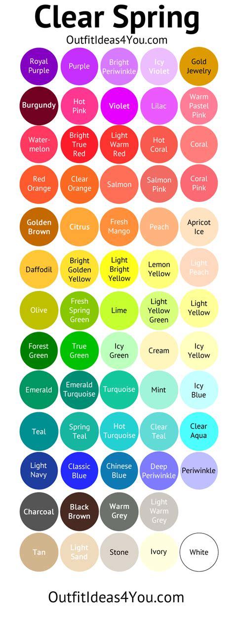 clear color palette color palette clear color