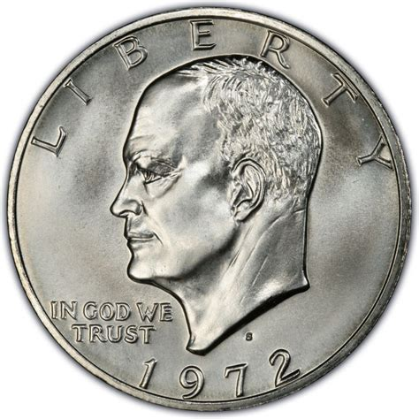 1972 eisenhower dollar values and prices past sales coinvalues com