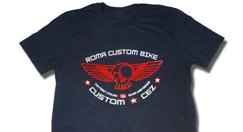 As Roma 02 T Shirt abbigliamento maglietta roma custom bike