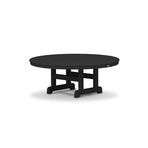 Trex Outdoor Furniture Cape Cod Charcoal Black 48 In Patio Furniture Cape Cod
