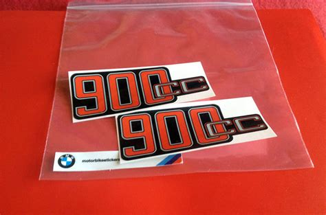 Bmw Heritage Sticker by R90s Battery Cover 900cc Decals Pair Heritage Stickers