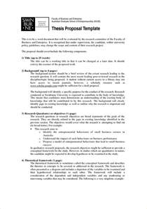 master thesis plan template 8 thesis template timeline template