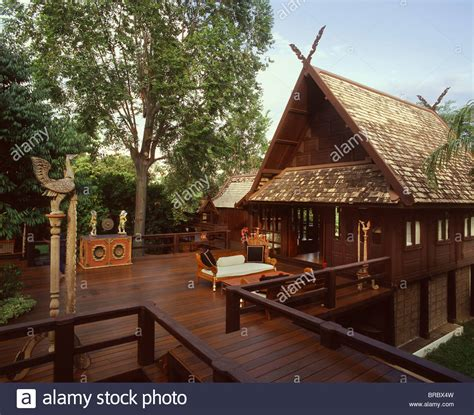 thai house northern style lanna thai house chiang mai thailand stock photo royalty free