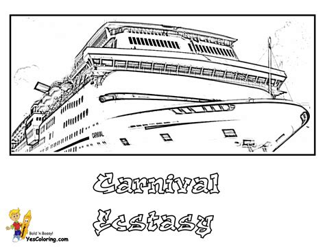 Cruise Ship Coloring Pages Cruises Free Ship Cruise Ship Coloring Page