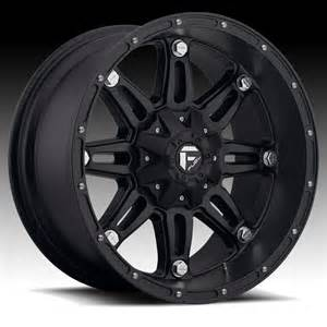 Truck Rims Flat Black Fuel Hostage D531 Matte Black Truck Wheels Rims Fuel