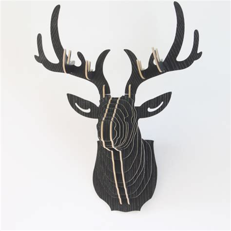 1000 images about trophy head mount 3d puzzles on cheap mdf wooden deer head puzzle 3d wooden deer head