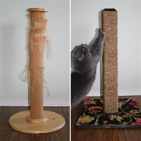 diy cat scratching post     scratching post