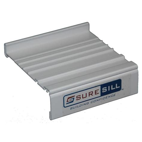 Suresill 1 3 8 In X 42 In White Pvc Sloped Head Flashing Exterior Door Pan
