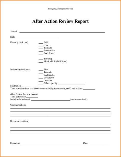 After Action Review Template Report Divine Studiootb Simple After Report Template