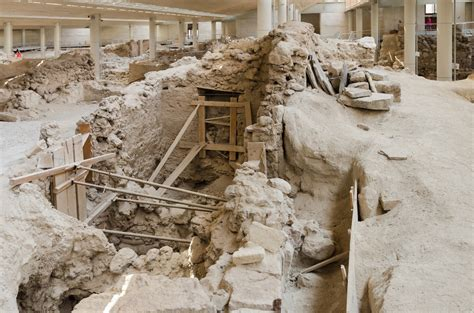 site archaeology books file archaeological site of akrotiri santorini july