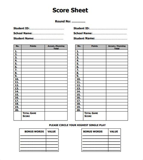 scrabble score card template 10 scrabble score sheet templates sle templates
